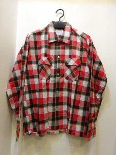 Dead Stock 60's Cranbrook プリントネル オープンカラーシャツ