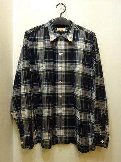 50's Hathaway フランネル オープンカラーシャツ