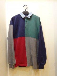 90's L.L.Bean 長袖 コットン ポロシャツ size L