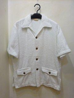 50/60's Jantzen ホワイトパイル ビーチシャツ
