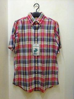 Dead Stock 80's L.L.Bean インディアンマドラス BDシャツ