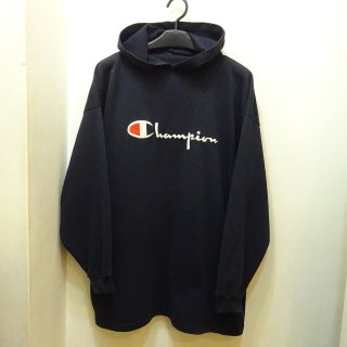 90's Champion フード付きロングスリーブTee Made in U.S.A