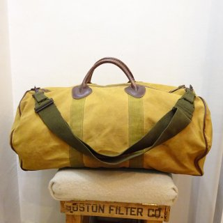 60's L.L.Bean Canvas×Leather Bean's Zipper Duffle Bag size S
