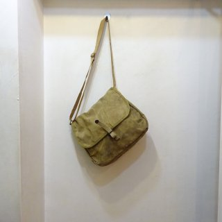 30/40's KUMFORT Brown Duck Utility Shoulder Bag