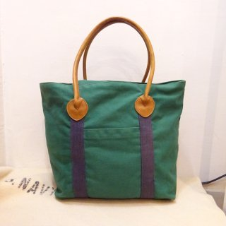 80's Preston Leather Products Canvas Tote Bag