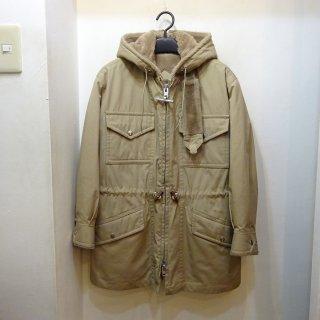 70's MIGHTY MAC Cotton & Boa Lining Hooded Jacket
