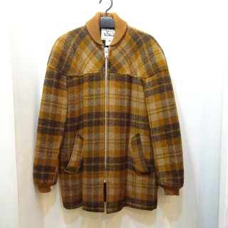 70's Woolrich Check Wool Pharaoh Coat
