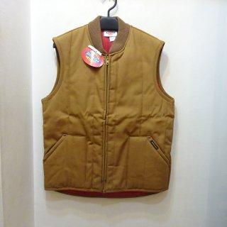Dead Stock 90's Dickies Brown Duck Work Vest Made in U.S.A