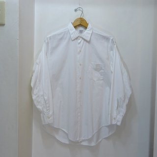 50's TRUVAL White Cotton Poplin Shirts