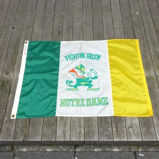 70's NOTRE DAME University Nylon Flag