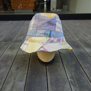 70's L.L.Bean Indian Madras Patchwork Bucket Hat