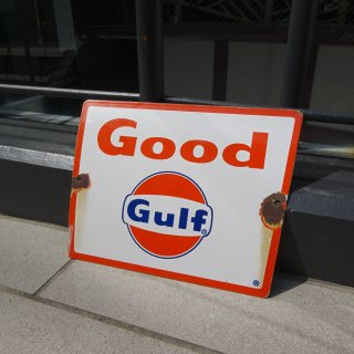 Old GULF Iron Sign Board