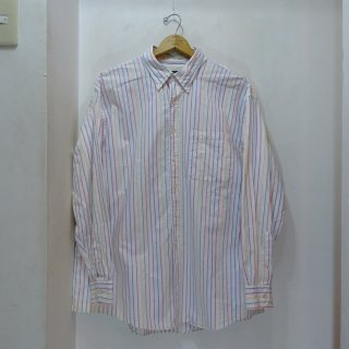 80's Abercrombie&Fitch 2PLY Oxford BDシャツ マルチストライプ USA製 size XL