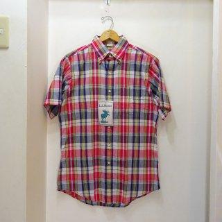 Dead Stock 80's L.L.Bean インディアンマドラス BDシャツ size M