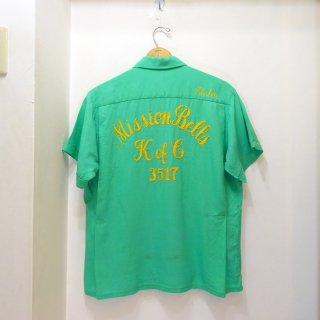 50's Mr.Joel チェーンステッチ入り レーヨンボーリングシャツ size L