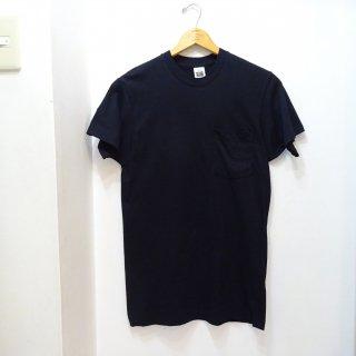 Dead 80's/90's Fruit of the Loom コットン100% ポケットTシャツ 黒 size M