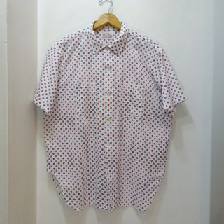 60's Vintage Open Collar Shirts 小紋柄 size XL