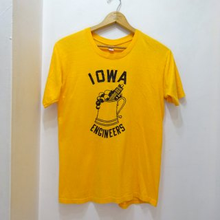 "60's RUSSELL ""IOWA University Engineers"" T-Shirts size XL"