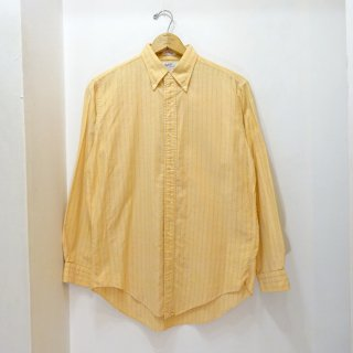 60's GANT Cotton Stripe B.D Shirts 3点留め size L