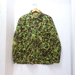 80's Outdoor Sportswear Duck Hunter Camo Cotton 3 Pockets Jacket size M