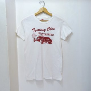 60's Hanes Cotton Printed T-Shirts 染み込みプリント size M