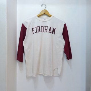 "80's Champion ""Fordham University"" Baseball T-Shirts size L"