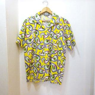 80's Le Tigre コットン ハワイアン シャツ size M