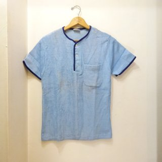 Dead Stock 60's Hanes Henley Nack T-Shirts パイル地 size S ブルー