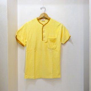 Dead Stock 60's Hanes Henley Nack T-Shirts パイル地 size S イエロー