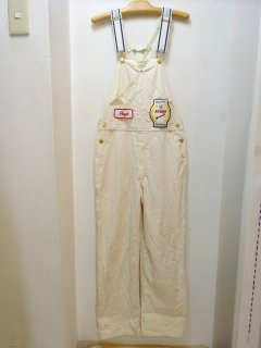 70's Carter's White Cotton Twill Overall size W34 L30