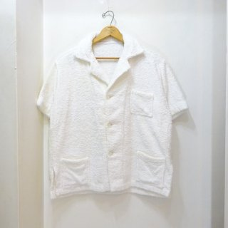 60's Vintage ホワイトパイル ビーチシャツ size about L