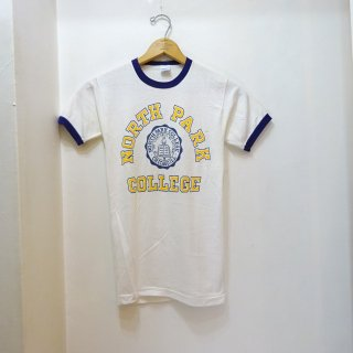 "70's Champion ""North Park College"" カレッジTシャツ size S"