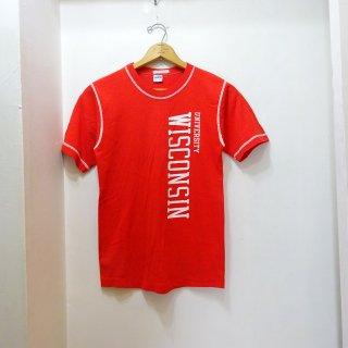 "70's Champion ""Wisconsin University"" カレッジTシャツ size M"