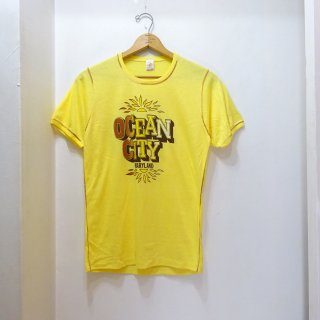 Dead Stock 70's Vintage Print T-Shirts size L