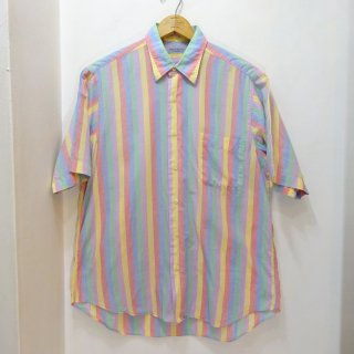 90's Bullock & Jones Cotton Multi-Stripe Shirts Made in U.S.A size M