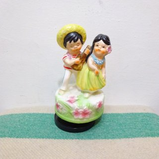 60/70's Hawaiian Ceramic Music Box