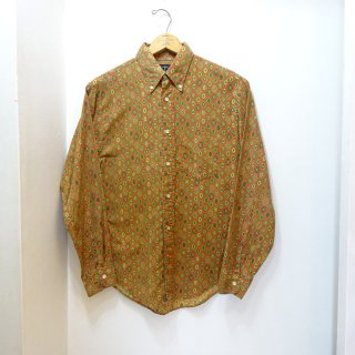 60's Towncraft Cotton B.D Shirts 3点留め 小紋柄 size M