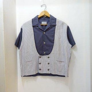 50's Dunhill Sportswear Cotton×Arnel Rockabilly Shirts size L