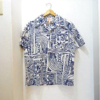 70's Sears HAWAII Cotton Hawaiian Shirts size about L