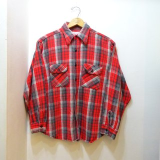 70's 5Brother Heavy Flannel Work Shirts size 16 1/2