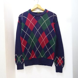 90's Brooks Brothers Argyle Pattern Cotton Knit Sweater size M