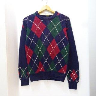 90's Brooks Brothers Argyle Pattern Cotton Knit Sweater size M