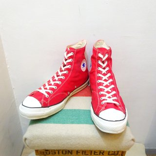 70's Converse Chuck Taylor Hi Red Made in U.S.A size US 15