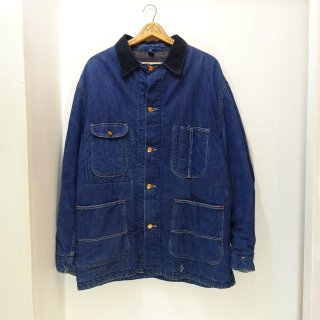 60's Vintage Denim Coverall with Blanket Lining size about 42