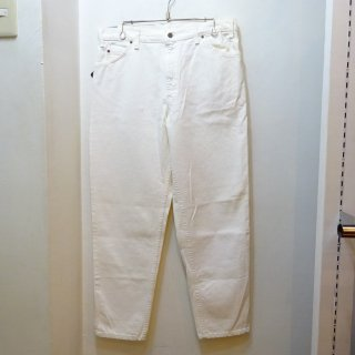 Dead Stock 90's Levi's 550 White Denim Pants Made in U.S.A size W36 L30