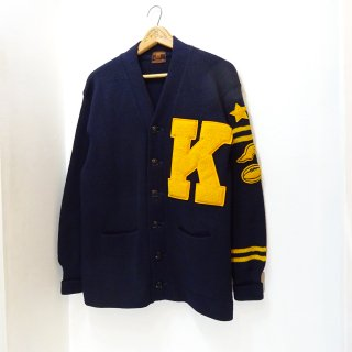 50's Champion Lettered Cardigan Sweater