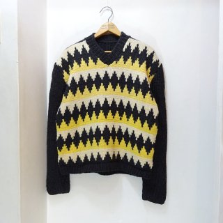 50's Unknown Argyle Pattern Low Gauge V-Neck Sweater size about 40