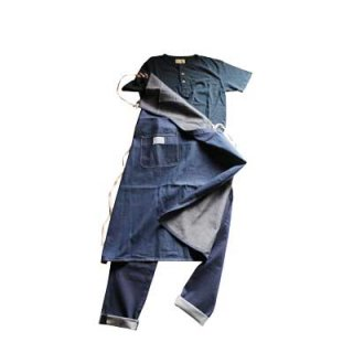 【graphzero】Denim Worler Apron 40's(L,ID)