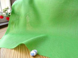 W巾さらっと薄手リネン100%・ライトグリーン