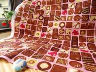 チョコレート柄オックス・ピンク